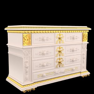 furniture classical antiquarian style 3d model