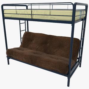 3d bunk bed dorel model