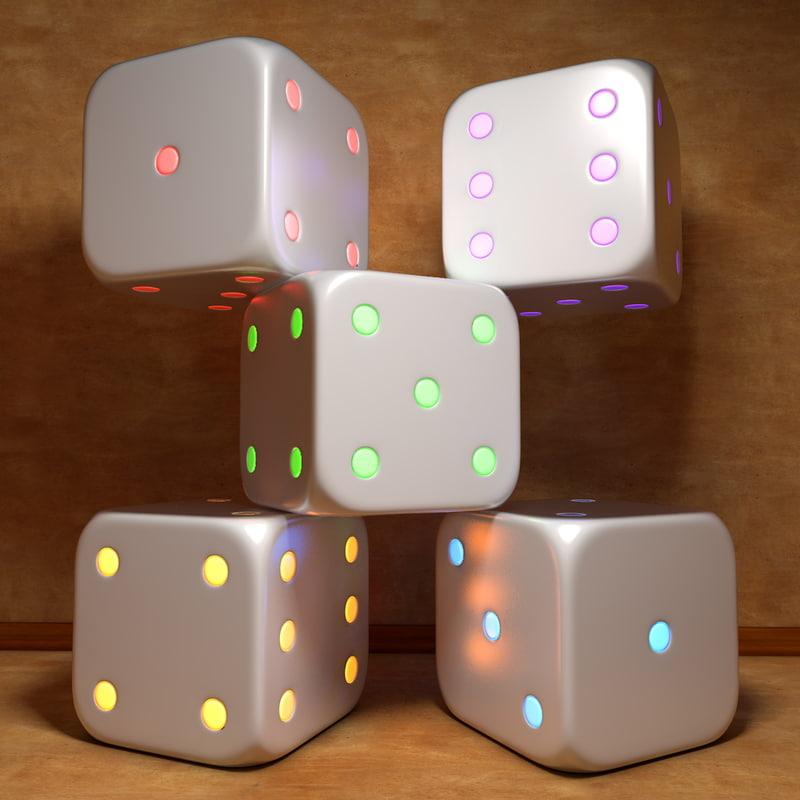 3d model electronic cube glowing