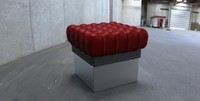 3d red cushion model