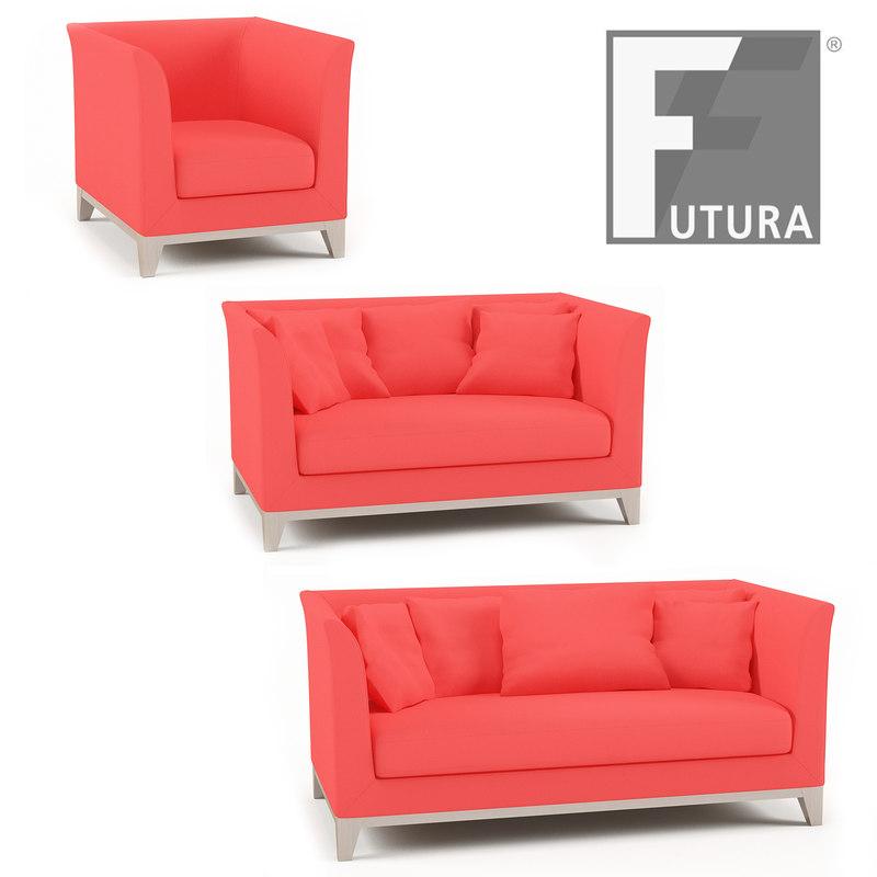 3d futura barth armchair sofa