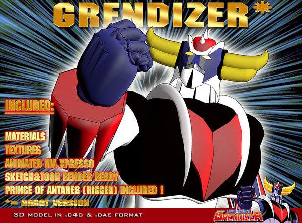3d model grendizer robot version