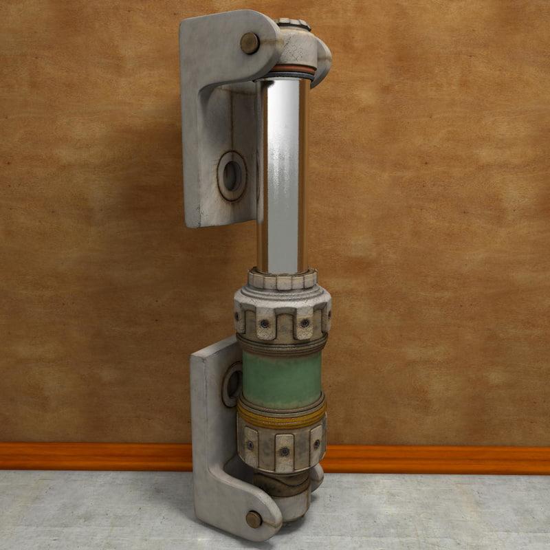 3d model hydraulic stem