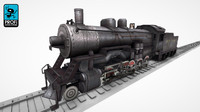 steam locomotive lk 02 3d model