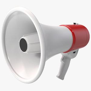 3d megaphone 2 model