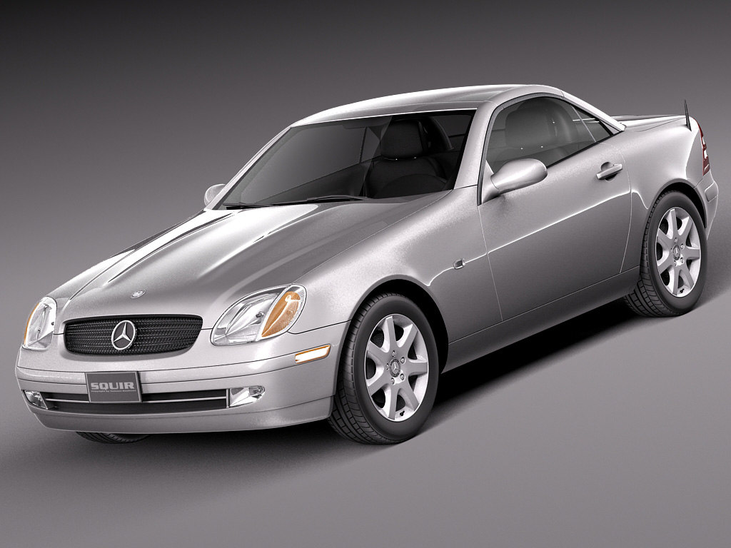 mercedes convertible coupe benz 3d model