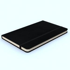 moleskine journal notebook 3d max