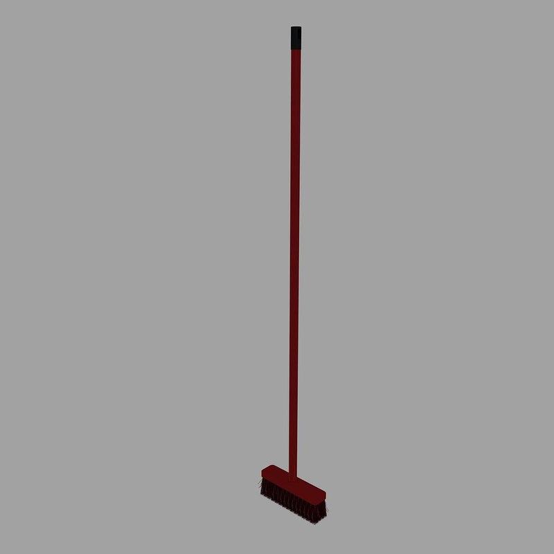 broom plastic 3 3d max