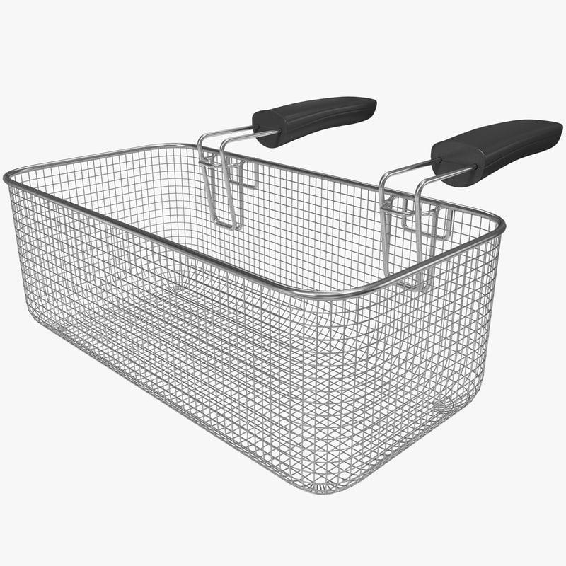max square fry basket
