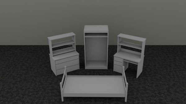furniture dorm 3d 3ds