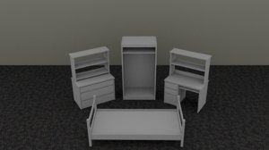 furniture dorm 3d 3ds