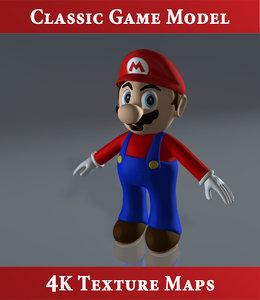 3d model classic super mario