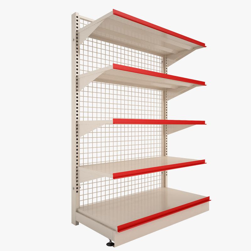 3d model of supermarket shelf super