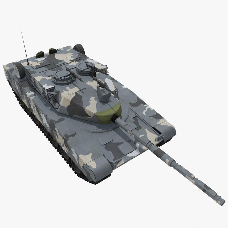 zulfiqar iranian main battle tank 3d model