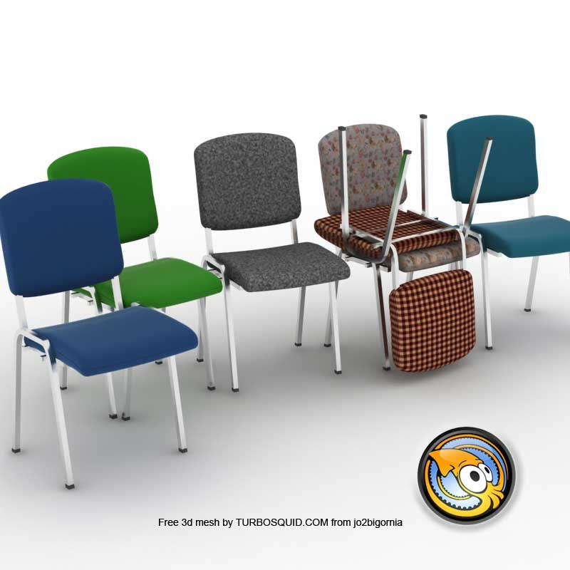 free aluminum chair 3d model