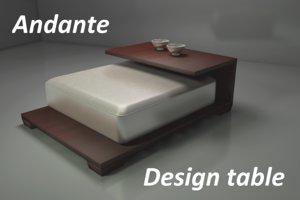 3ds max design andante table