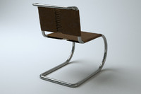 3d model of ludwig mies mr chair