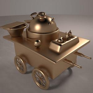 3d model bean cart arabian