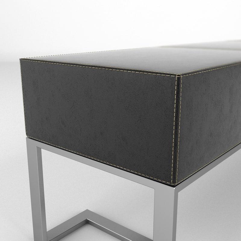 3d model bench realistic