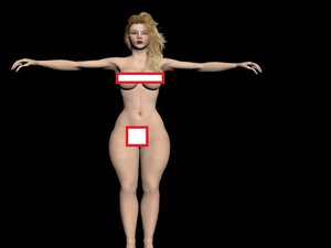 3d model rigged nude female