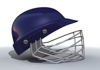 3d model blue cricket helmet