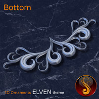 Bottom Elven 3D Ornament