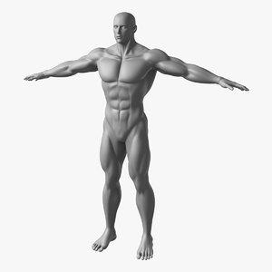 muscular male obj