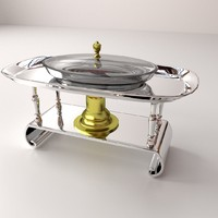 3d model chafing dish stand