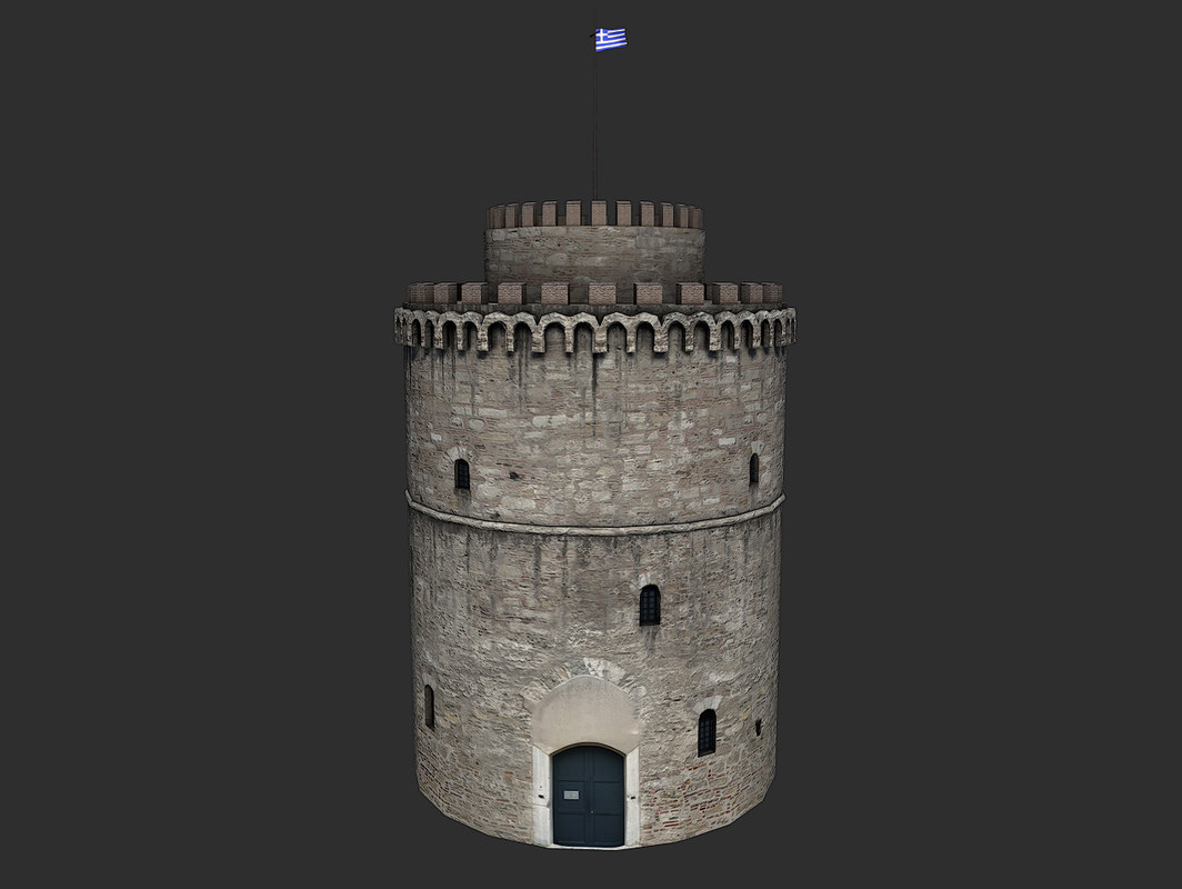 3ds max white tower