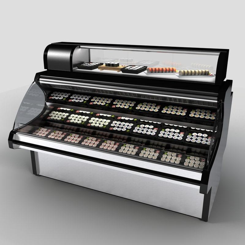 3d model of sushi case
