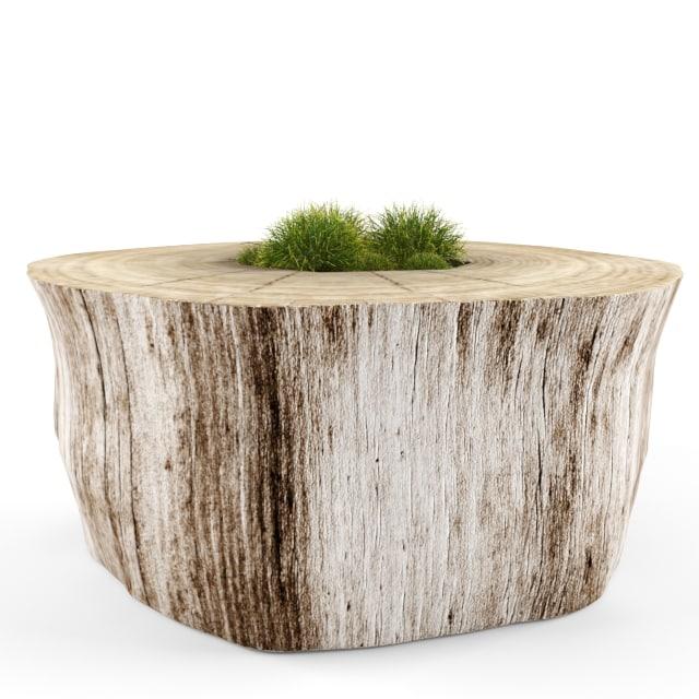 3d decorative stump model