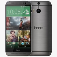 htc m8 gunmetal gray 3d model