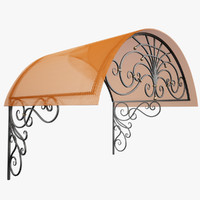 Wrought Iron Awning 1
