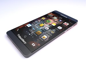 mockup blackberry z10 3d 3ds