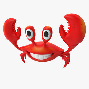 3d model cartoon crab