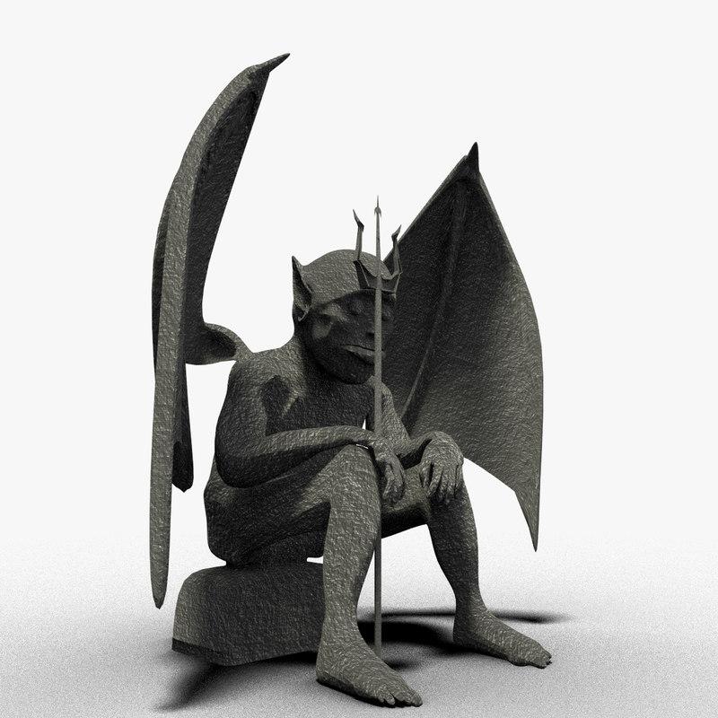 3d gargoyle statue