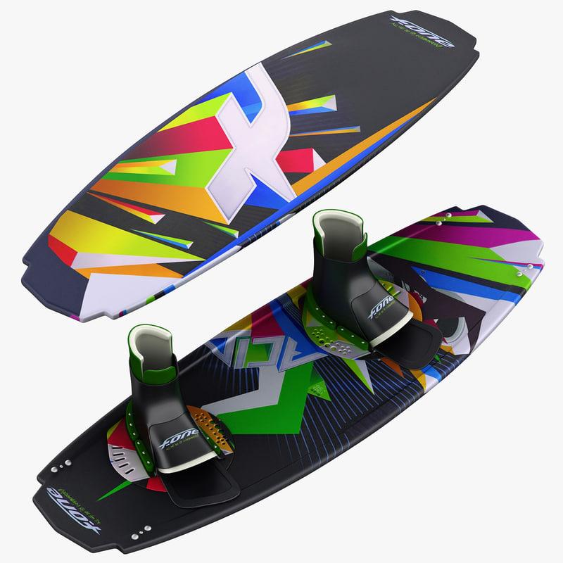 3d kiteboard board model