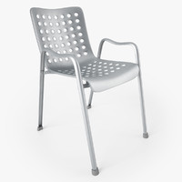 3d model vitra landi chair