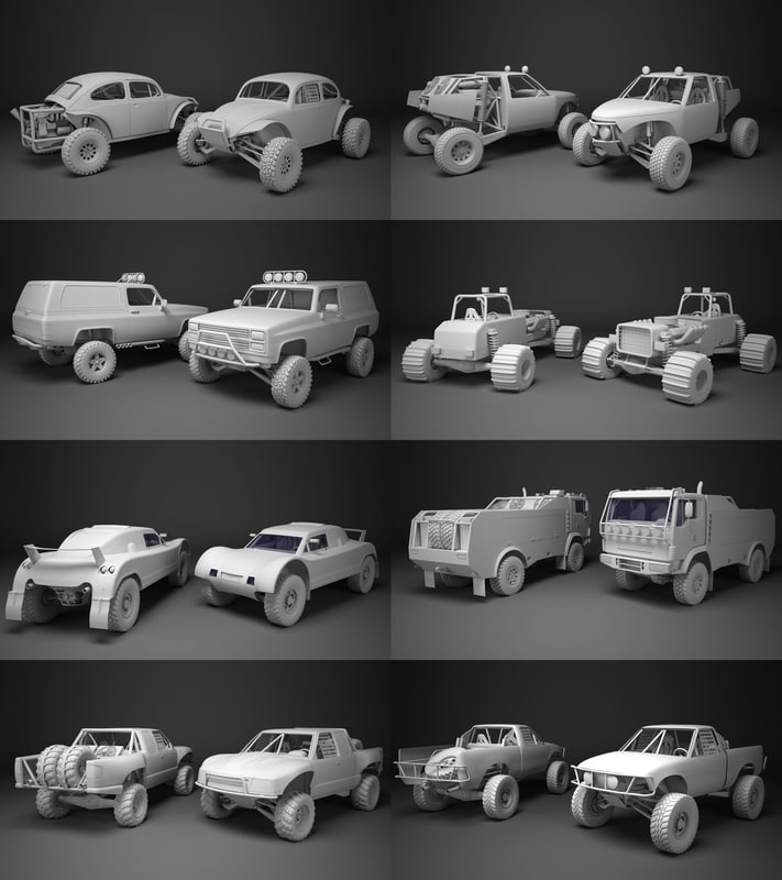 3d model off-road racing cars