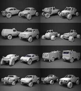 3d model off-road racing cars
