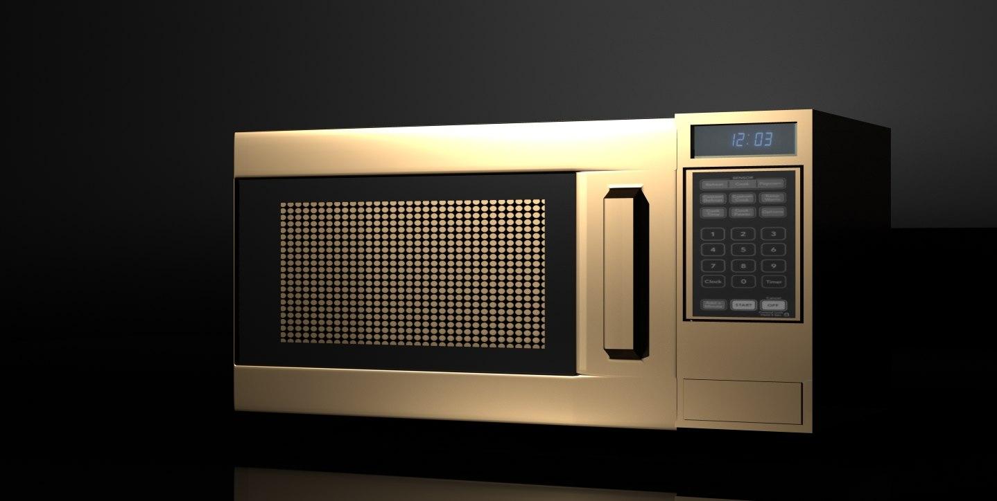 3d model microwave