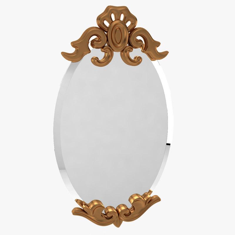 obj mirror antiqued gold