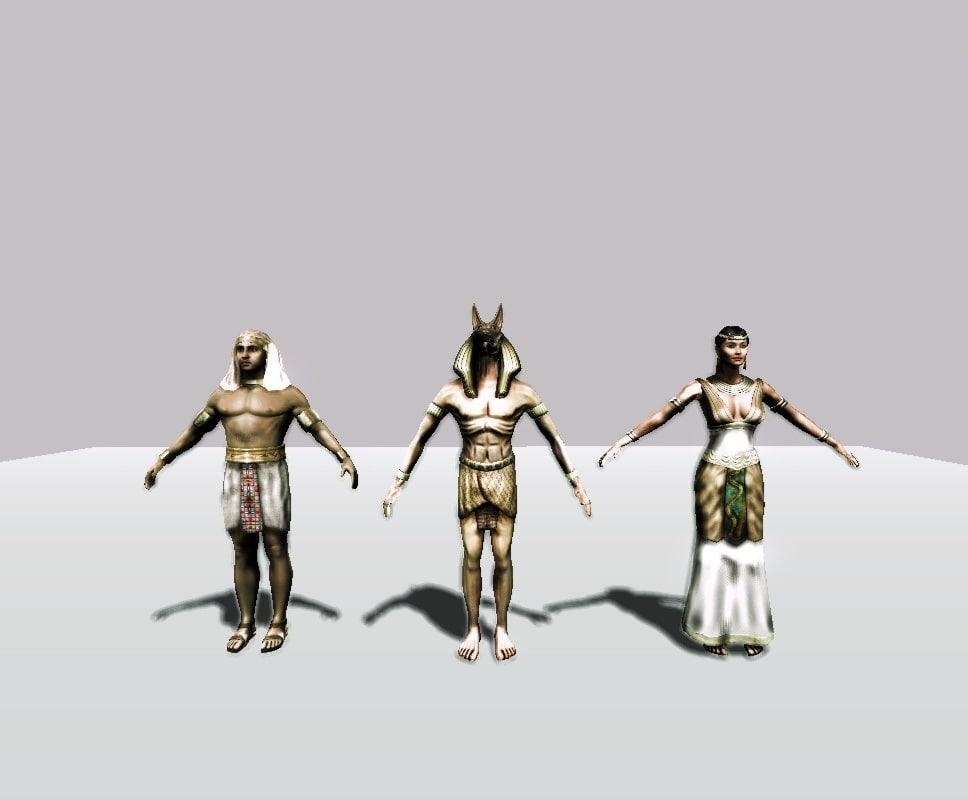 pack egyptians 3d model