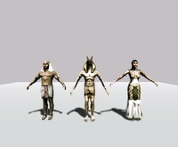 pack egyptians 3d model