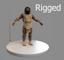 3d model neanderthal man