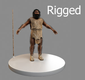 3d model neanderthal man