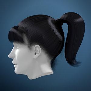 woman hair obj