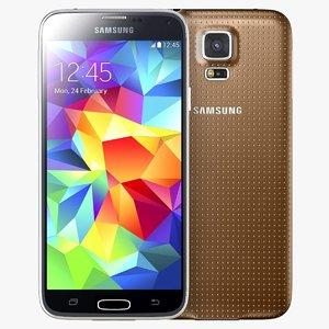 samsung galaxy s5 gold 3d max