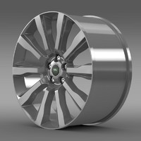 rangerover supercharged rim 3d 3ds