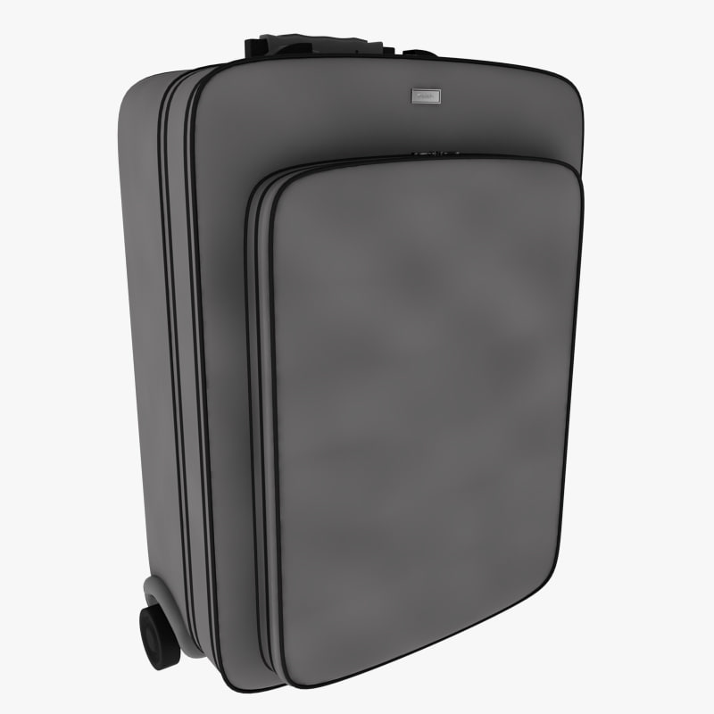 3d model suitcase baggage bag